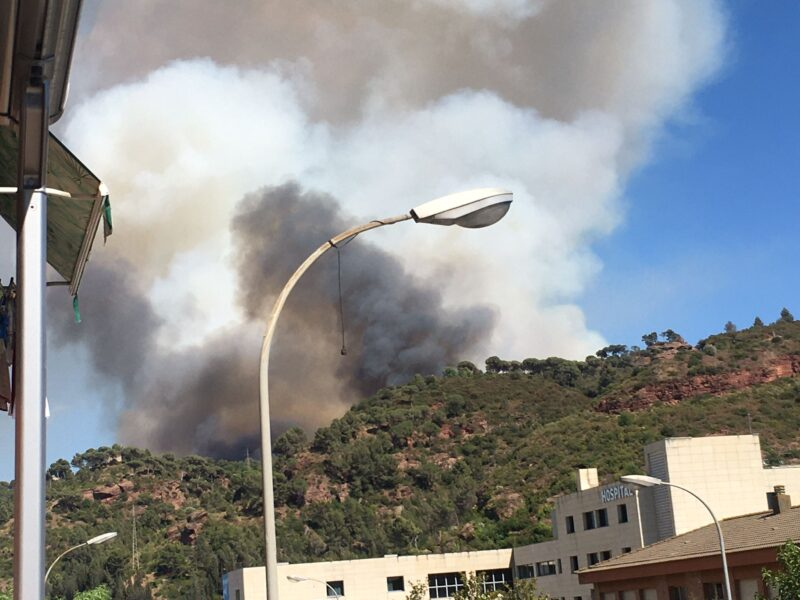 La Bustia incendi Martorell 13 juliol 2021