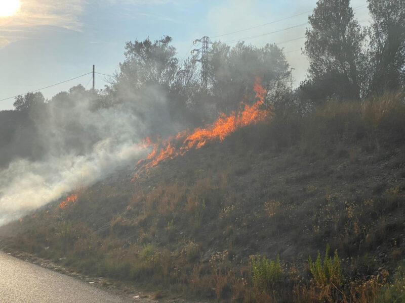 La Bustia incendi Olesa