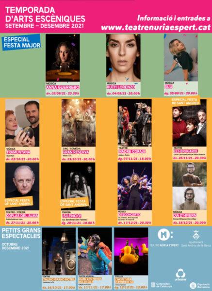 La Bustia temporada teatre Sant Andreu setembre desembre 2021