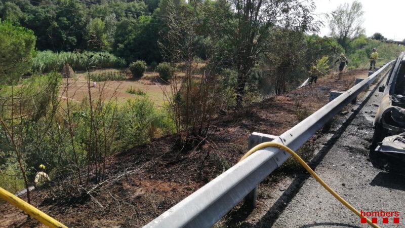 La Bustia incendi voral vegetacio AP7 Martorell