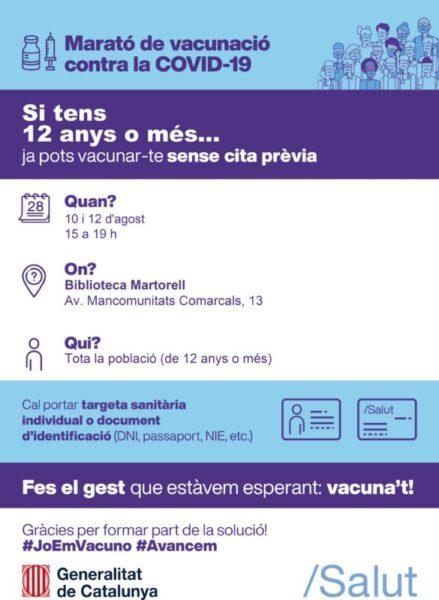 La Bustia marato vacunacio Martorell