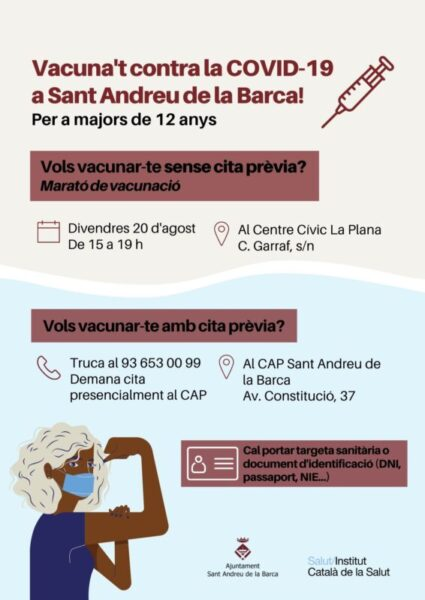 La Bustia vacunacio sense cita Sant Andreu