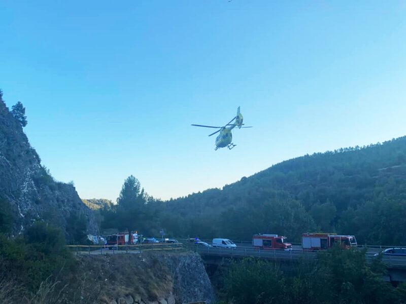 La Bustia accident C55 Olesa Esparreguera 17 setembre 2021