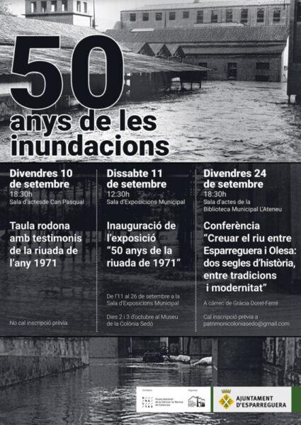 La Bustia cartell inundacions 1971 Esparreguera