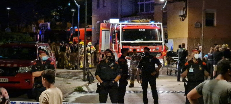 La Bustia incendi pis bloc Sant Bernat Olesa (2)