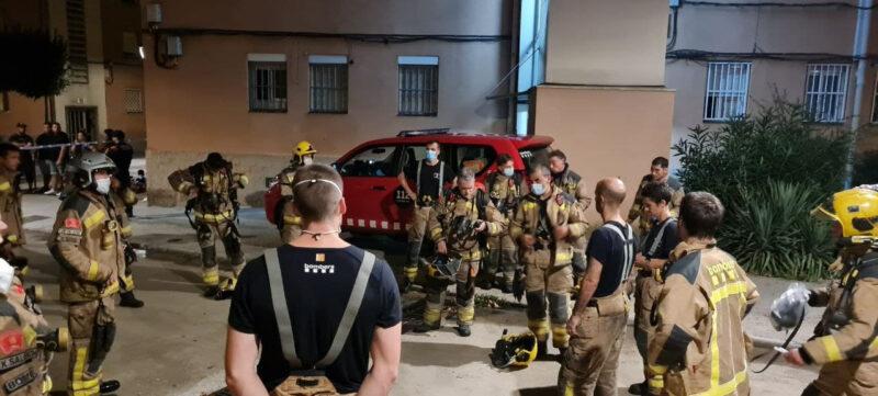 La Bustia incendi pis bloc Sant Bernat Olesa (3)