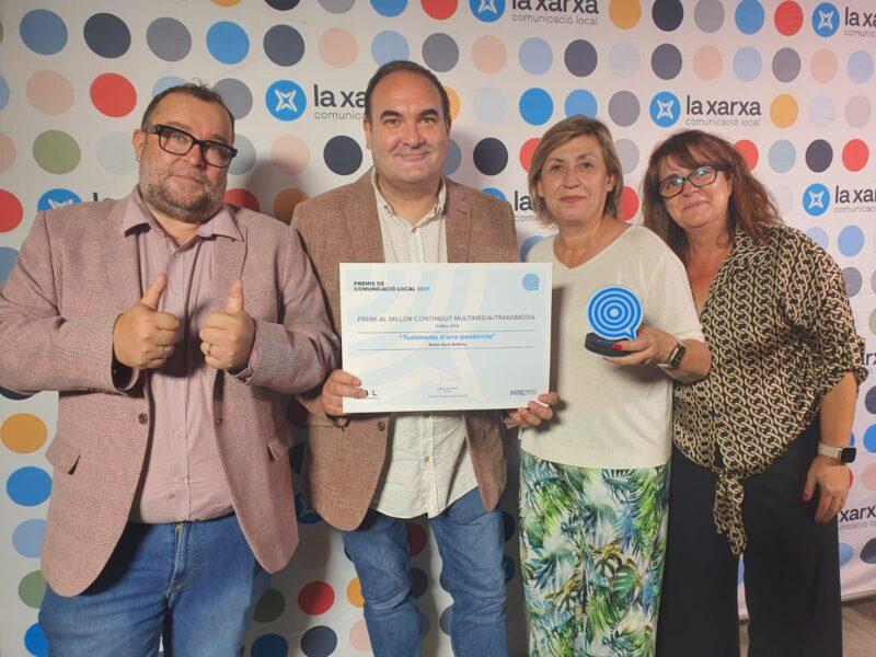 La Bustia recull diploma finalista reportatge Radio Sant Andreu