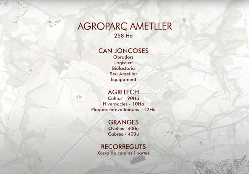 La Bustia dades 2 Ametller projecte Agroparc Penedes Gelida