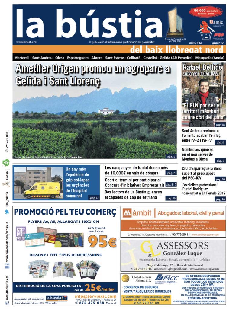 La Bustia portada reportatge Agroparc gener 2017